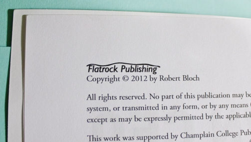 Temporary publishing logo for Flatrock Publishing.