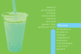 The back of the card serves as a menu