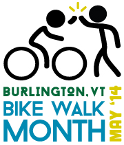 A more concise, secondary logo for Bike Walk Month.