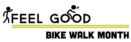 A detail graphic for Bike Walk Month, which derived from a sketch design during the creation process.
