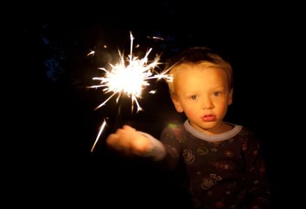 sparklers-children