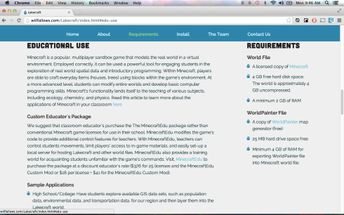 A screenshot highlighting layout design of the website as well as the custom bullet point design.