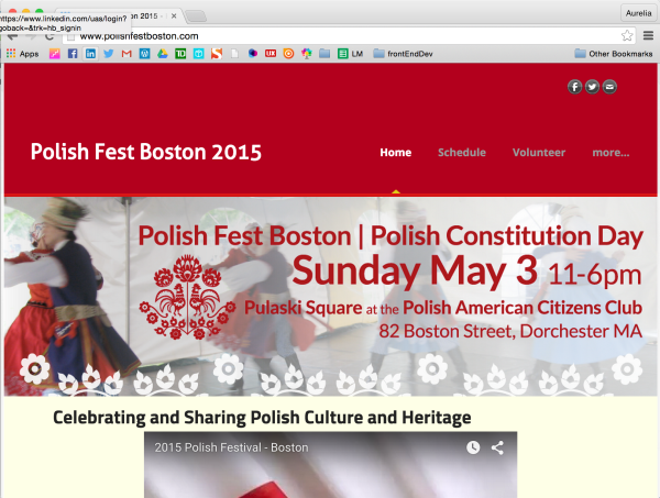 The official banner design for Polish Fest Boston